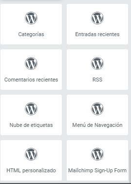+ widgets wordpress